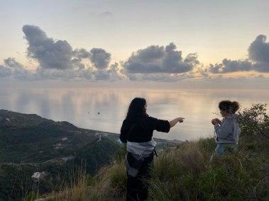 Il tramonto dalla collina