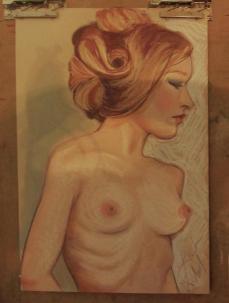 'Jennifer ' Pastel on Pastel paper
