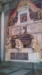 Tomb of Michelangelo inside Basilica of Santa Croce {Money Saving Tip: It is FREE! And all major historic people of Italy you read about growing up are buried here. Must see}