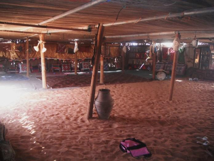 Inside the Bedouin tent