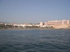 Hotel resort built along the shore