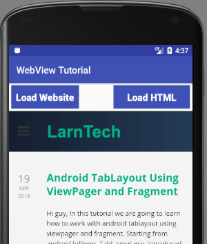 Converting Website into Android App using WebView
