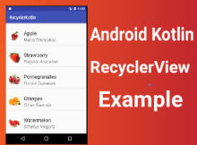 Android Kotlin RcyclerView