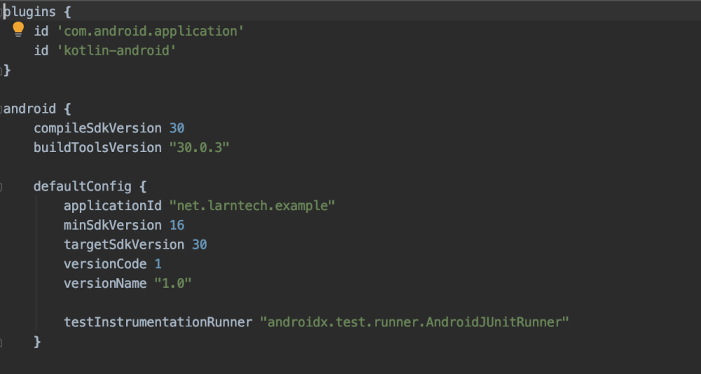 Update package name in your gradle build