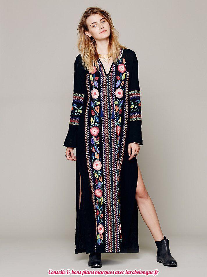 Robe Longue Coton Femmemanche Longue Boheme La Robe Longue