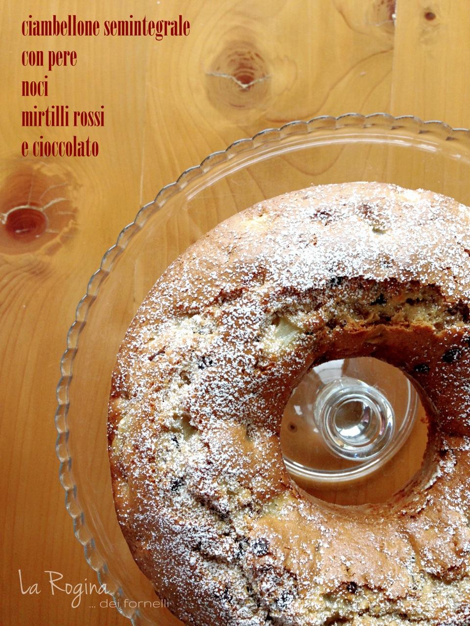 ciambellone-pere-noci-cioccolato-mirtilli-rossi
