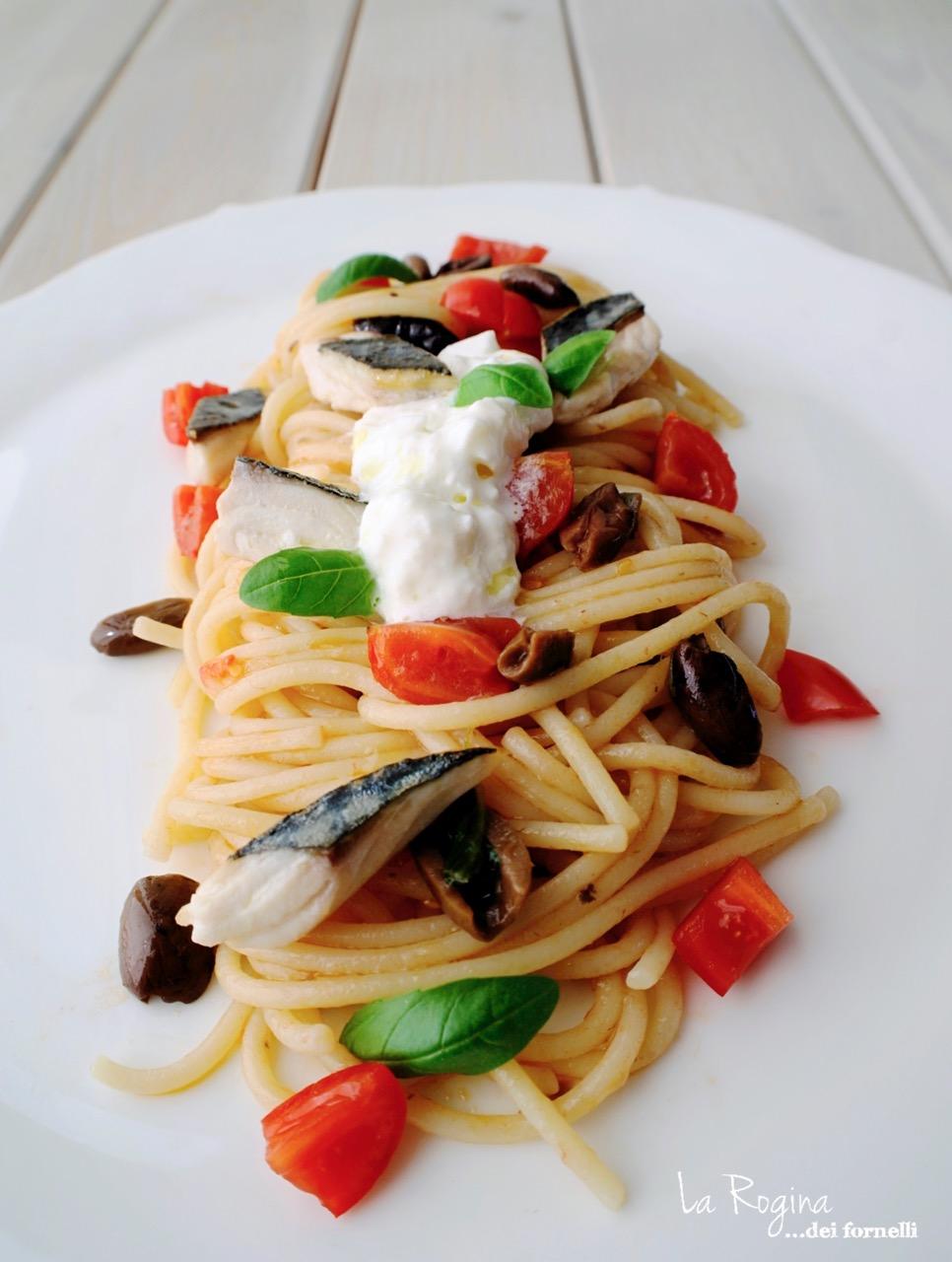 spaghetti-sgombro-burrata-dieta-mediterranea
