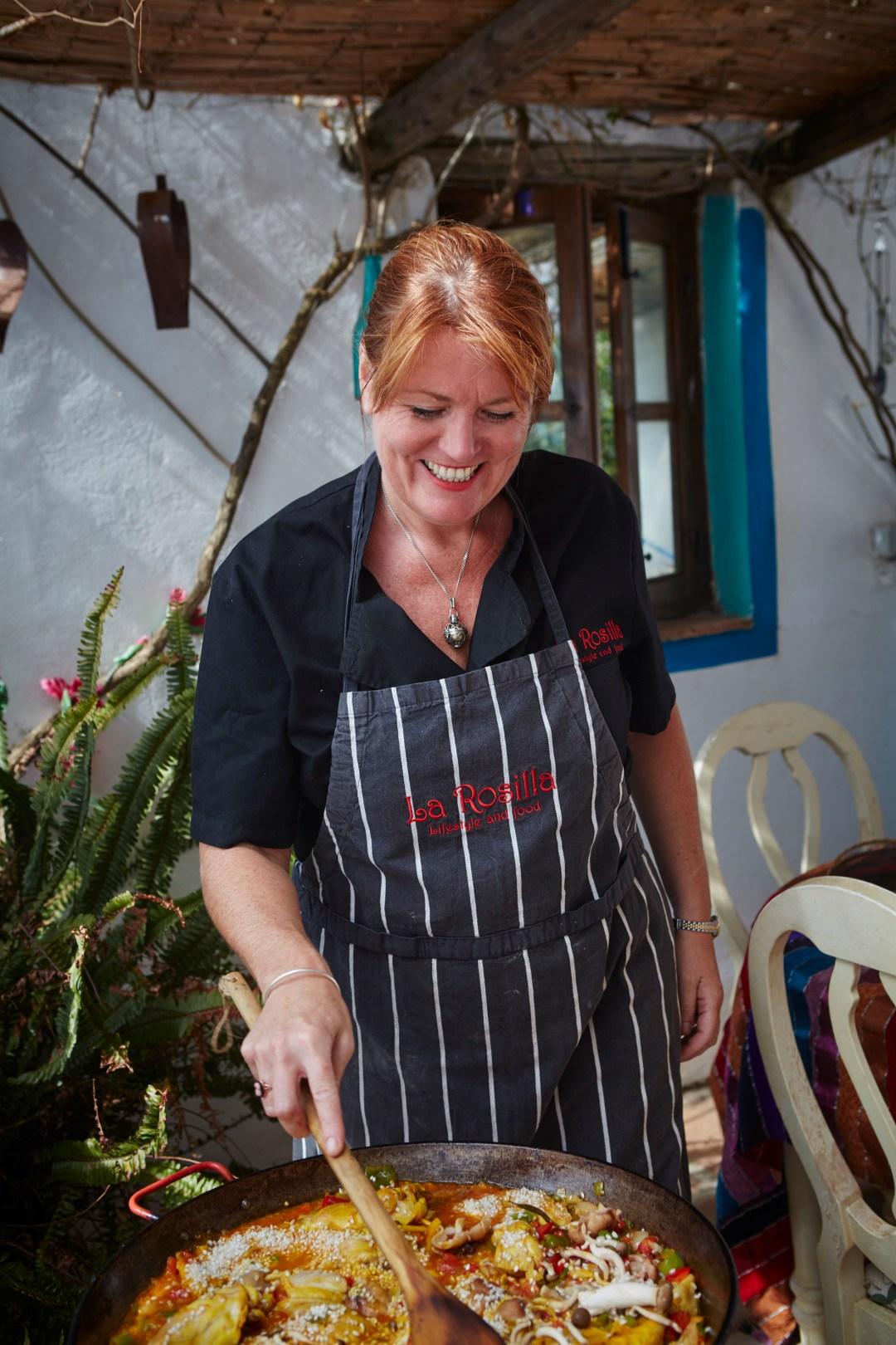 Lynsey Drake cooking.