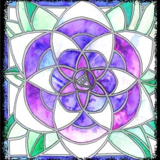 La Rosilla stained glass logo.