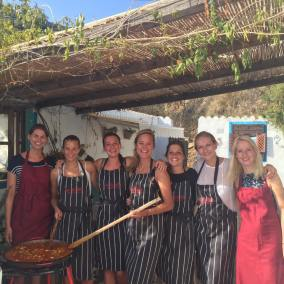 Big Spoon cooking at La Rosilla.