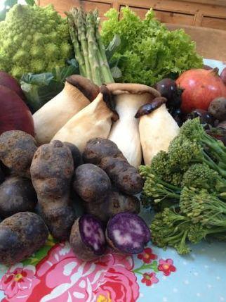 Fresh market produce.