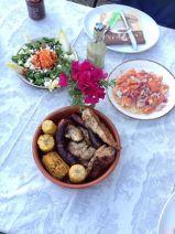 Rustic alfresco dining
