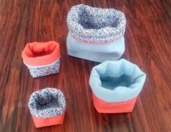 Cestini azzurro arancio 1