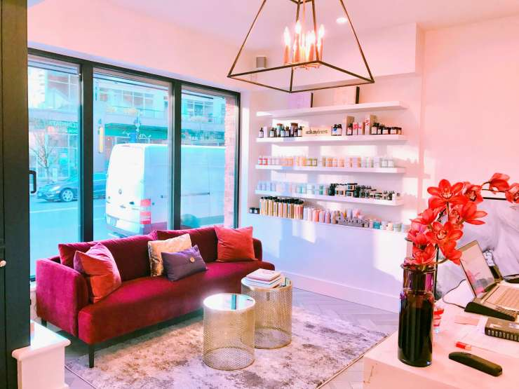 La Rouge Hair and Spa Seating Area