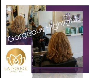 Ladies highlight and blonde color with waves