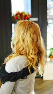 Blonde Color, Cut , highlight with Extensions