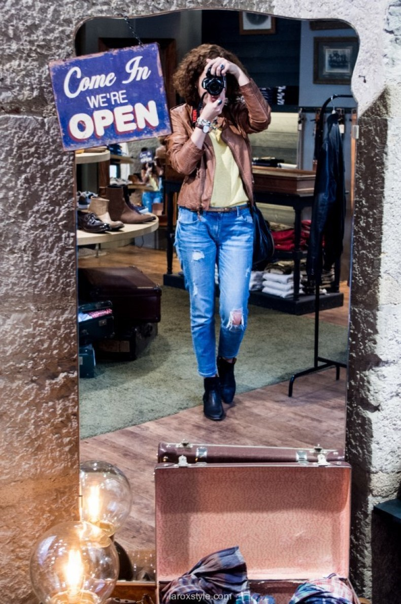 laroxstyle blog mode lyon - look denim and leather pop and shoes (9 sur 9)