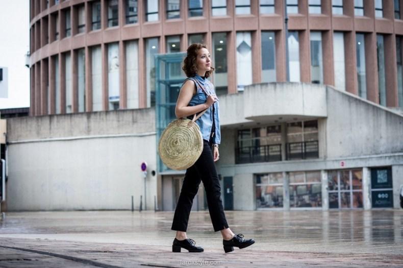 laroxstyle blog mode lyon - Chemise brodée et sac raphia (13 sur 24)