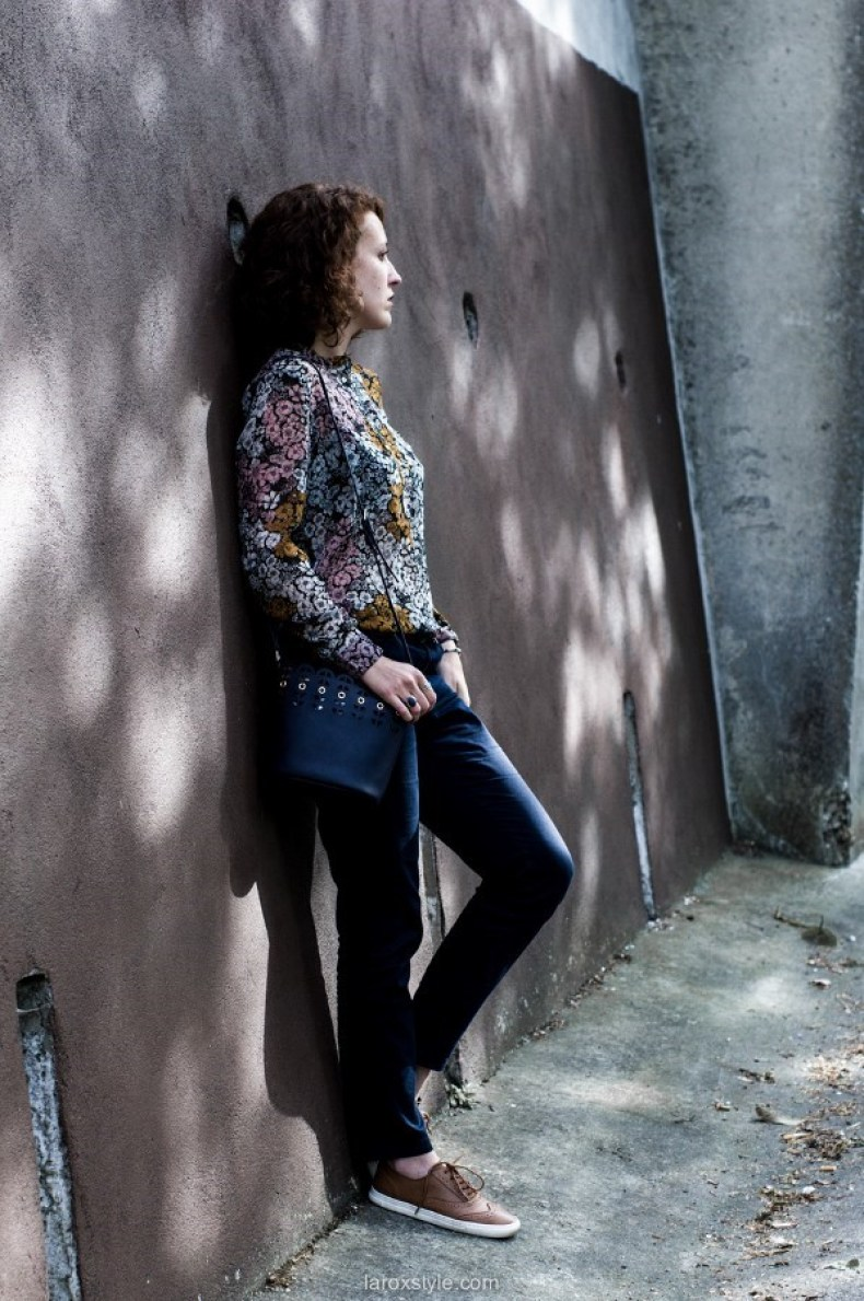 Blouse Fleurie & Chino ! - Look - blog mode - LaRoxStyle