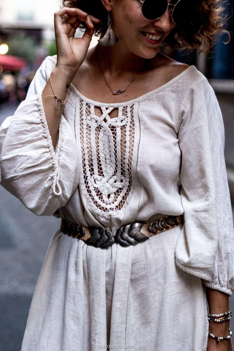 robe boheme blanche - boho style - blog mode