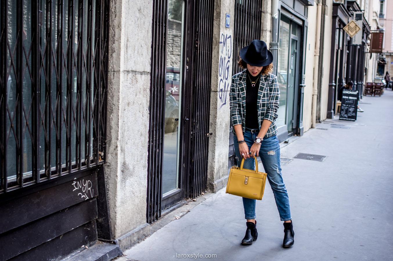 porter le motif tartan - british style - laroxstyle blog mode lyon