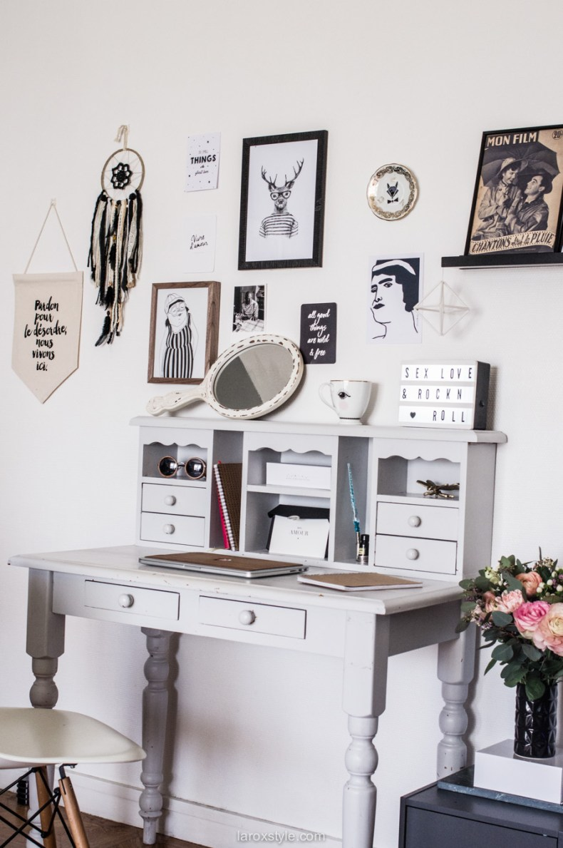 deco bureau a la maison - inspiration decoration boheme chic - laroxstyle blog lifestyle-2