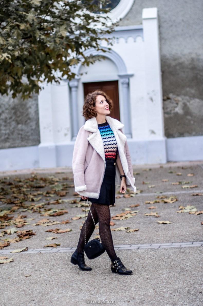 mini jupe trapeze - porter de la couleur en hiver - blog mode lyon - laroxstyle-3