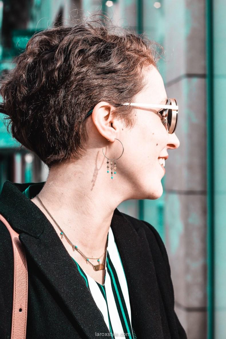 jupe velours cotele - top rayures - look vintage - destockage en ligne - modz - blog mode lyon - © laroxstyle-36