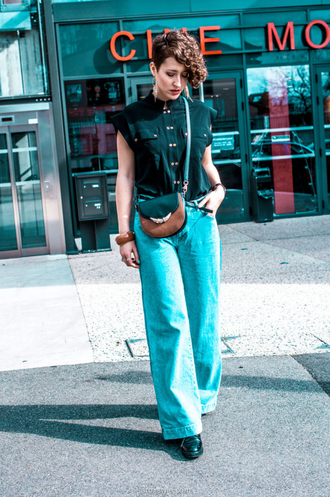 look pantalon large - blog mode - inspiration look