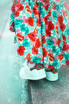 look festival - robe longue fleurie - stan smith - nuits sonores day 1 -12