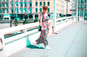 look festival - robe longue fleurie - stan smith - nuits sonores day 1 -8