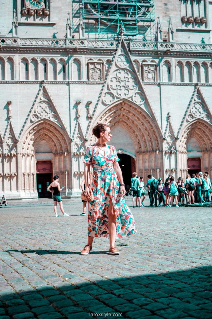 robe longues a fleurs grace and mila - balade dans les rues du vieux lyon - blog mode lyon-4