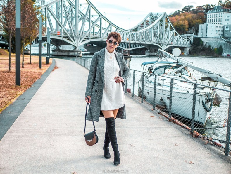 Comment porter des cuissardes - idee look blog cuissardes robe pull