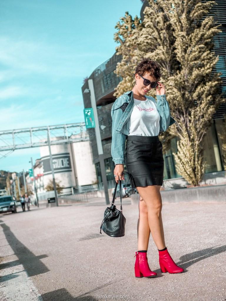 idee look folk blog mode jupe en cuir