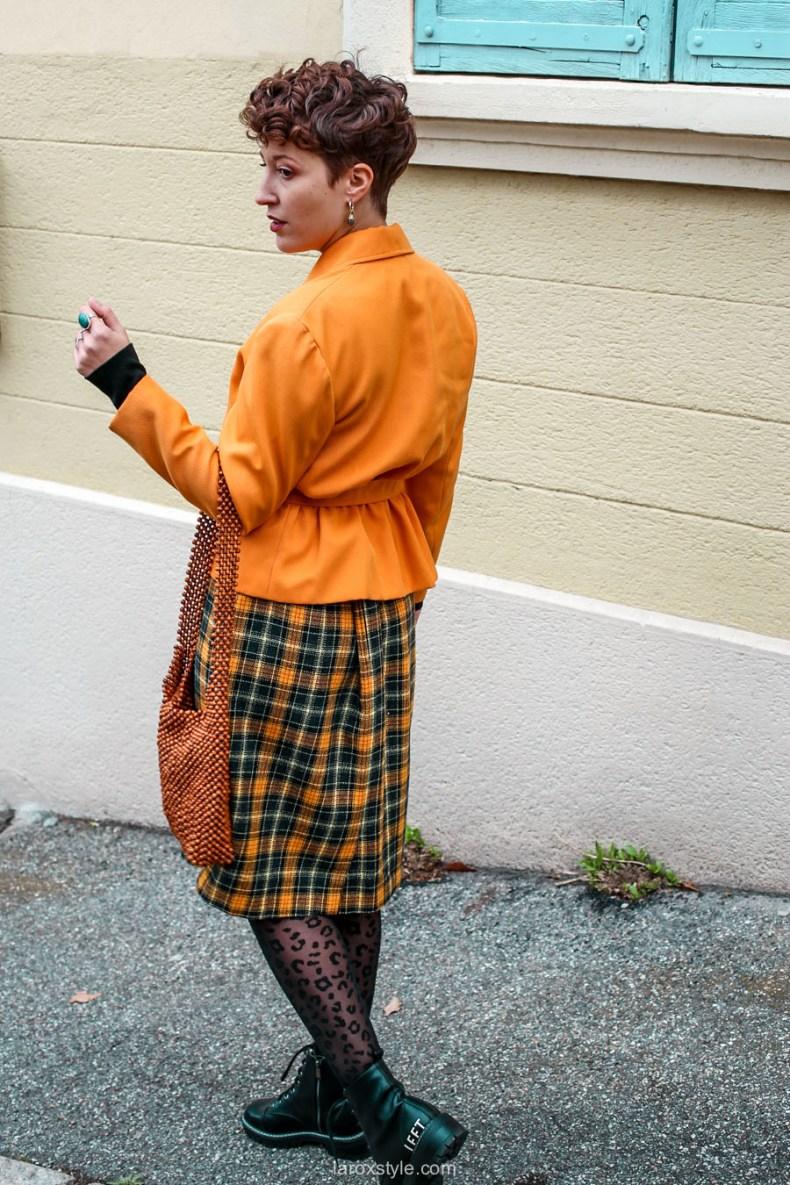 comment oser un look vintage orange pour l automne - chez biche-13
