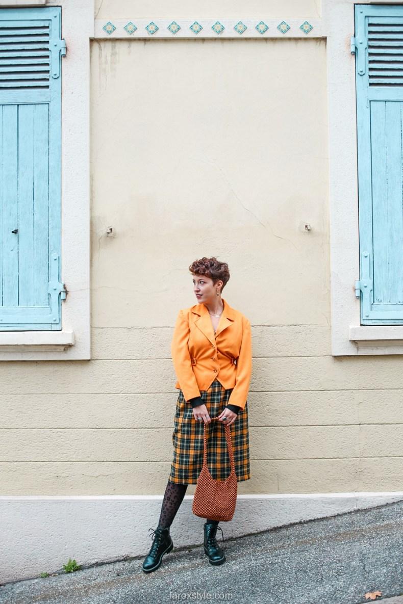 comment oser un look vintage orange pour l automne - chez biche-2