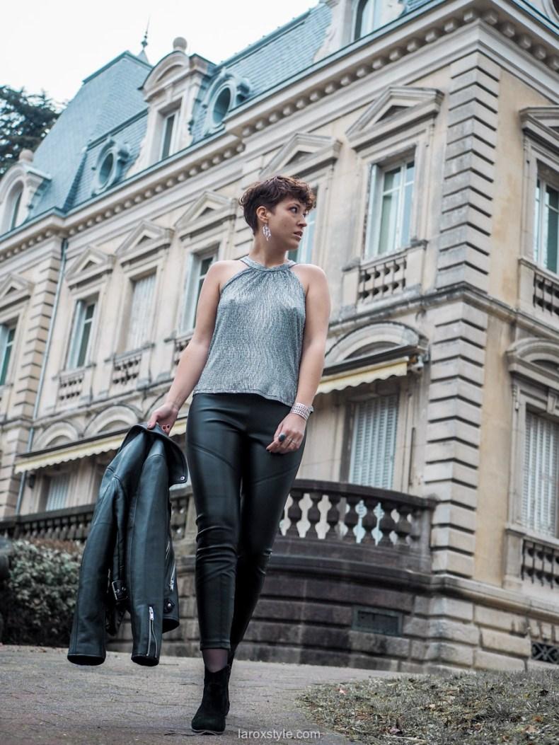 blog mode look de fetes pantalon cuir