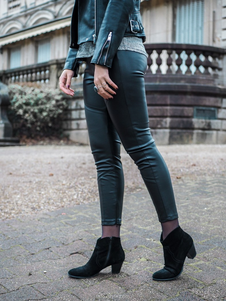 blog mode look de fetes pantalon cuir