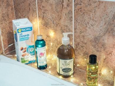 diy recette bain fleurs au lait