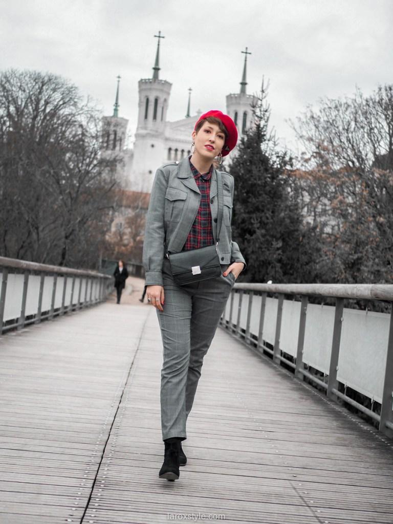idée look blog costume à carreaux
