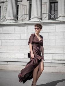 robe longue satinee pour un mariage