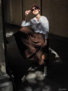 look automne jupe longue