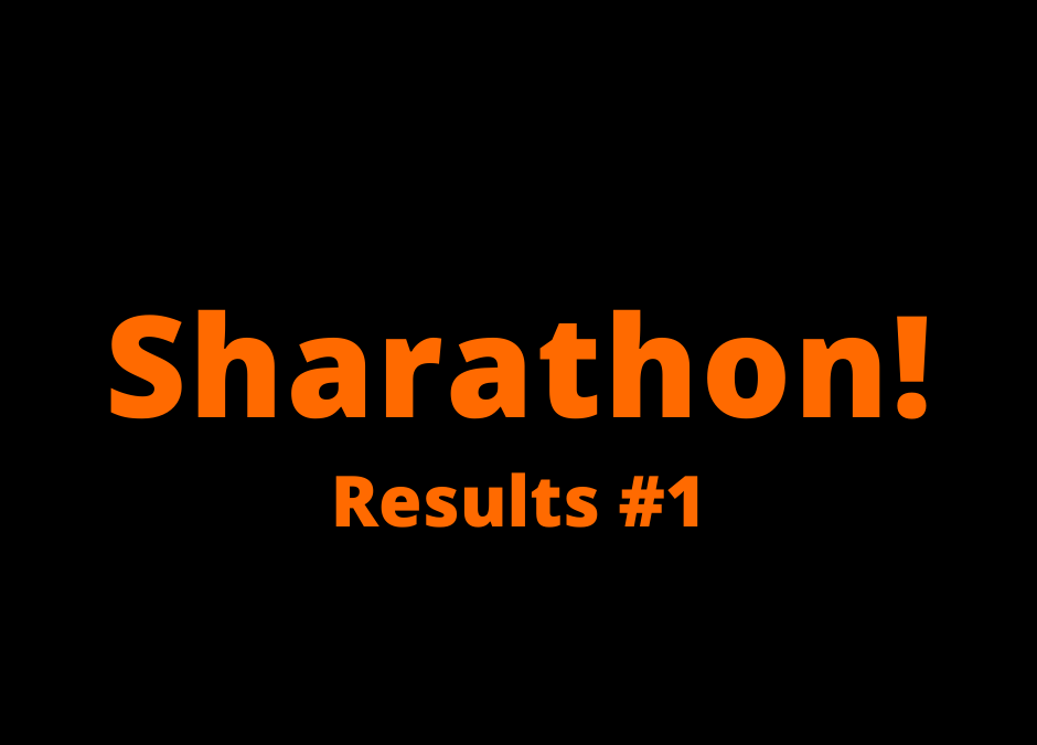 Sharathon Results 1