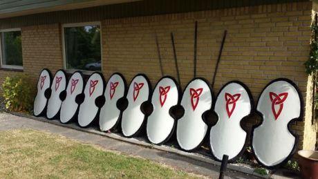 White Custom Shields