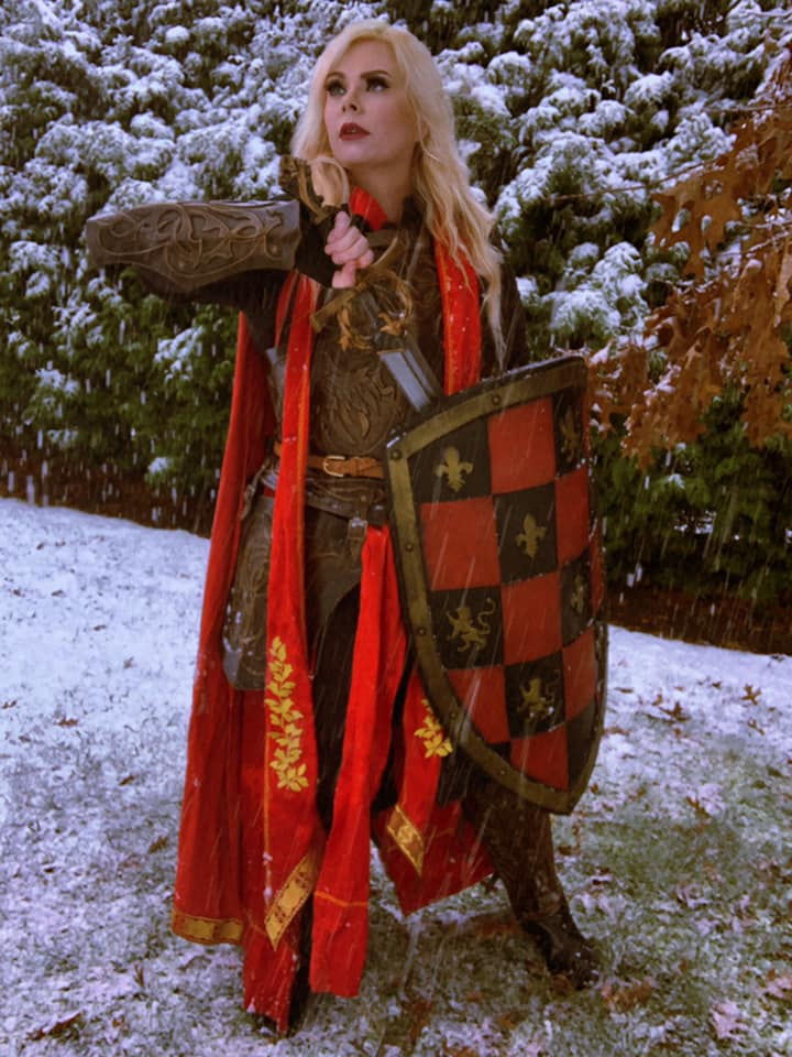Female Knight In The Snow