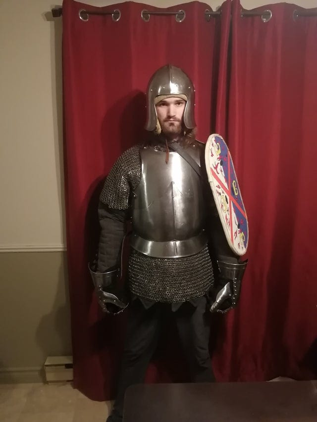 Knight With Upper Arm Shield