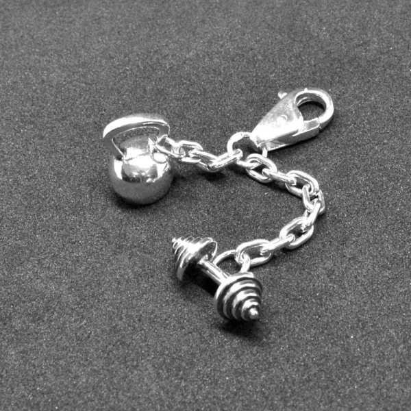 серебряный брелок тяжелая ателтика