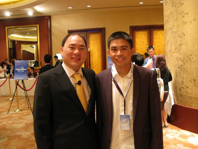 Doctor Yong Larrazabal with Doctor Bobby Ang