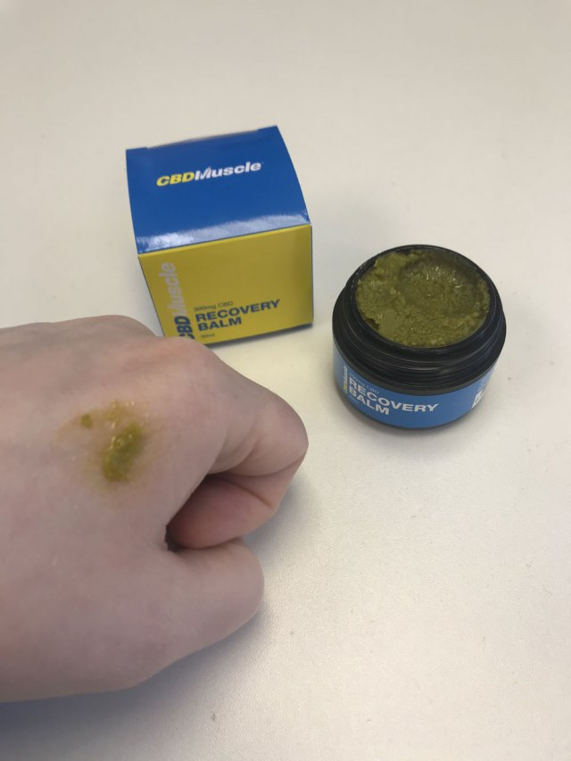 How to use CBD Muscle recovery balm