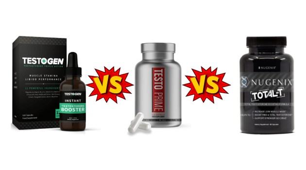 TestoGen vs TestoPrime vs Nugenix